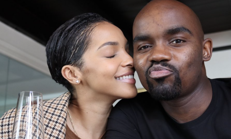 Pics! Musa Mthombeni Reveals Secret White Wedding with Liesl in Celebration Of One Month Marriage Anniversary
